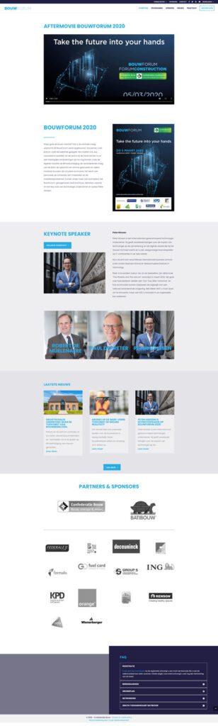 Evenementwebsite BouwForumConstruction