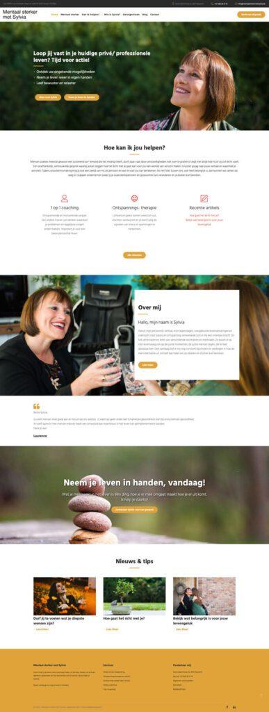 Persoonlijk webdesign en online afsprakenbeheer voor Sylvia